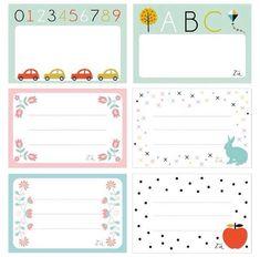abc car and kid fun printable labels Printable Labels, Printable Paper, Free Printables, Notebook Labels, Diy And Crafts, Paper Crafts, School Labels, Filofax, Journal Cards