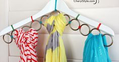 How to make a DIY scarf hanger - Everyday Dishes & DIY