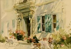 Marilyn Simandle - Morning Coffee, watercolor