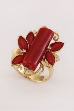 aka coral jewelry, red coral ring design, coral ring designs in gold, coral ring designs, branch coral jewelry, coral branch ring, handmade gold ring Coral Ring, Coral Jewelry, Red Coral, Red Gold, Diamond Earing, Ring Designs, Cuff Bracelets, Gold Rings, Ring