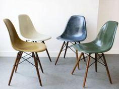 The Fiberglass chair eames, chaise vintage