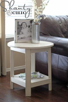 DIY Furniture : DIY Benchright Round End Tables