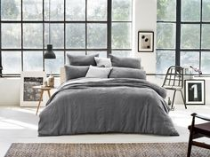 Sheridan Sewell Smoke Duvet Cover Textures - 100% cotton covers - duvet covers - queenb