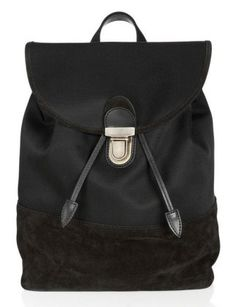 50 Dream Handbags: acne morab nylon and suede backpack, $700 #backpack, #rucksack, #traveling bag.