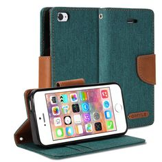 iPhone 5s Case, GMYLE Wallet Case Classic for iPhone 5 / iPhone 5s/ iPhone SE - Dark Green & Brown PU Leather Slim Stand Case Cover. Magnetic closure flap - Protects your device from accidental hard knocks and scratches. Wallet case design - Build in Card Slots and cash compartment. Durable - Not easily fade in color, high quality. Slim design with stand function. Plug your charger, cable or headset without removing the case.