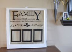 Antique window picture frame with family by WritingOnTheWindow