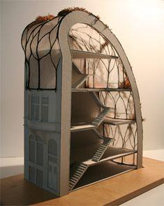 R aliser une maquette architecturale carton plume bois for Meuble futuriste montreal