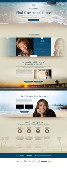 Custom responsive website design for OC life Smiles
