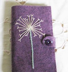 wool felt needle case needle book for hand sewing by cozyhomebytj