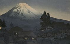 "magictransistor: "" Takahashi Shotei, Mt. Fuji from Mizukubo, Evening, ca. 1935. """