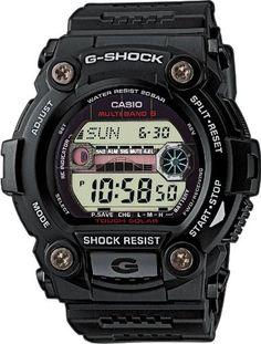 CASIO G-Shock GW-7900-1ER - Reloj de caballero de cuarzo, correa de resina color negro (con radio, cronómetro, luz): Amazon.es: Relojes