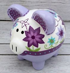 The Little Couple, Pig Bank, Personalized Piggy Bank, Crochet Pig, Piggly Wiggly, Cute Piggies, Must Have Items, Baby Shower Gifts, Lavender