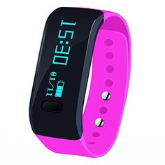 Megadream Waterproof IP67 Intelligent Activity Fitness Tracker with Pedometer Tracking & Sleep Quality & Health Sport Monitoring Smart Wristband Fitness Tracker Bracelet for IOS & Android - Pink - http://www.exercisejoy.com/megadream-waterproof-ip67-intelligent-activity-fitness-tracker-with-pedometer-tracking-sleep-quality-health-sport-monitoring-smart-wristband-fitness-tracker-bracelet-for-ios-android/fitness/