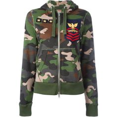 History Repeats camouflage print hoodie (10.005 UYU) ❤ liked on Polyvore featuring tops, hoodies, jackets, outerwear, sweaters, green, green top, camo print top, camo print hoodie and hoodie top