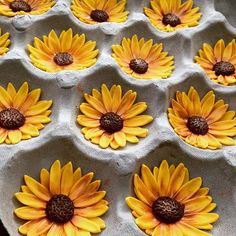 fondant Sunflower toppers