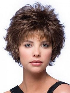 Plus Size Short Hairstyles for Women Over 50   Curly Mixed Layered Short Capless Wig Short Hair Styles For Women …