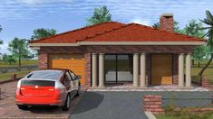 Overall Dimensions- x mBathrooms- 1 Car GarageArea- Square meters 2 Bedroom House Plans, Building Costs, Square Meter, Home Collections, All Design, Gazebo, Brick, Outdoor Structures, How To Plan