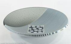 """Crypto"" 15"" kilnformed bowl Fused Glass Plates, Fused Glass Art, Glass Artwork, Glass Wall Art, Bullseye Glass, Bowl Designs, Line Design, Art Decor, Mosaic"