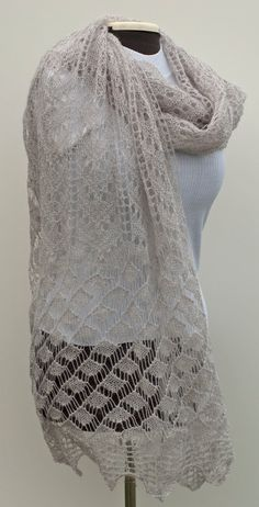 057a3f49b58c5 Delicate knitted lace scarf by JThandicrafts on Etsy