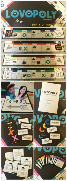 Lovopoly! My spin off of monopoly I made for my boyfriend for our one year! A lot more work then I thought it would be, but so much fun!