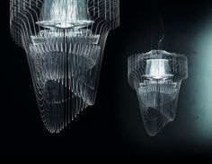 An ethereal, futuristic design by Zaha Hadid. Read more at Lights Online Blog.