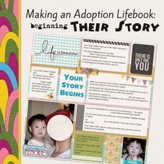 Making an Adoption Life Book - Beginning Their Story Talking about the first things you tell your adopted child about their beginning. What information to share and what not to. Private Adoption, Open Adoption, Foster Care Adoption, Adoption Day, Foster To Adopt, Adoption Shower, Foster Kids, Adoption Gifts, Adoption Books
