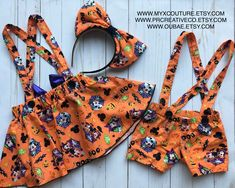 Professionally handmade girls outfits for all occasions by MyxCouture Cute Halloween Outfits, Disney Fan, Suspenders For Boys, Disneyland Outfits, Bambam, Boho Shorts, Active Wear, Brother, Girl Outfits