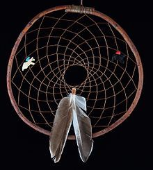 Ojibwe Red Willow Dream Catcher with duck feathers - Dreamcatcher - Wikipedia, the free encyclopedia