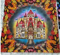 Castelo por Fernanda Senna #inspirationalcoloringpages #coloringbooks #livrosdecolorir #jardimsecreto #secretgarden #florestaencantada #enchantedforest #reinoanimal #animalkingdom #johannabasford #adultcoloring #milliemarotta