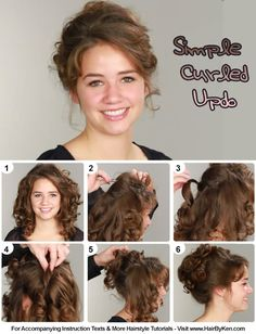 Tutorial: Simple Curled Updo