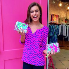 Lilly Pulitzer Moxy Top  Printed Jewelry Travel Case GWP
