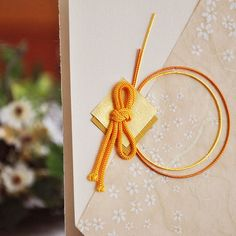 【和nagomi 招待状】友禅和紙に伝統の伊予水引を大胆に施した和風結婚式招待状、結婚式以外にも着物展示会など各種招待状としてもご利用可能です