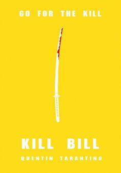 Kill Bill: Vol. 1 (2003) ~ Minimal Movie Poster by Beau French #amusementphile