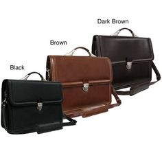 Amerileather Savy Leather Executive Briefcase - Overstock™ Shopping - Great Deals on Amerileather Briefcases