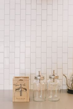 The Mason Tap - A Pour Spout and Infuser for Regular Mouth Mason Jars. Photo by Henry + Mac.