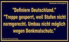 """You know you're German when... """"Fällt aus, wegen is nich!"""""""