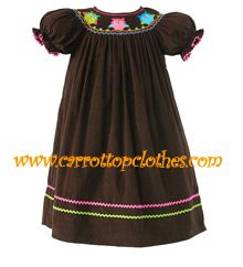 fall smocked dress