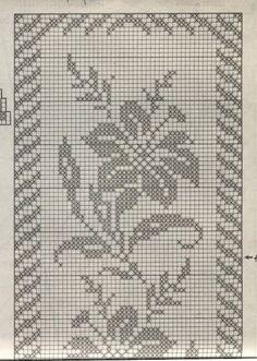 azucena filet crochet para Virgen María. Mantel Mariano