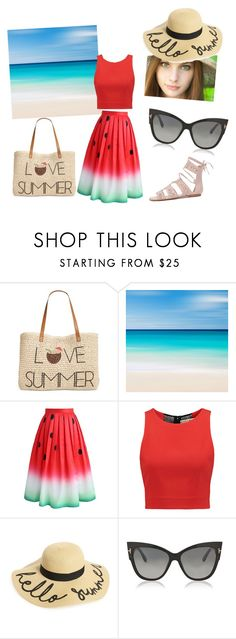 """""""Summer🍉"""" by gabrielagabi-i ❤ liked on Polyvore featuring Style & Co., Chicwish, Alice + Olivia, BP. and Tom Ford"""