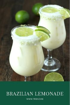 Brazilian Lemonade is a creamy, smooth refreshing lime drink native to Brazil. This version is just like the one Tucanos Brazilian Grill makes! The Effective Pictures We Offer You About holiday Drinks Lime Drinks, Refreshing Drinks, Fun Drinks, Healthy Drinks, Healthy Food, Nutrition Drinks, Easy Cocktails, Healthy Recipes, Blue Curacao Drinks