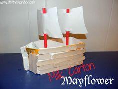 Milk Carton Mayflower   Stir the Wonder #kbn #Thanksgiving