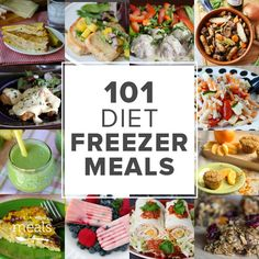 Lighten up your meal plan with 101 healthy freezer meals from our Diet Menu. Each recipe includes nutritional information so you can easily keep track of what you eat.