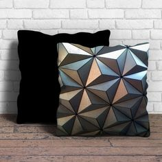 This is Epcot Diamond Pattern pillow cushion -Removable poly/cotton cover pillows are soft and wrinkle free. -Hidden zipper enclosure. -Do not include insert. -Finished with a black or white back. -Ma