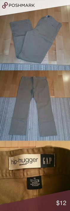 Gap Khaki Jeans Hip hugger jeans from Gap.  Super comfy and good for  all seasons! GAP Jeans Flare & Wide Leg