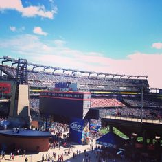 Gilette Stadium, Foxboro Mass.  Patriots game 9/22/13