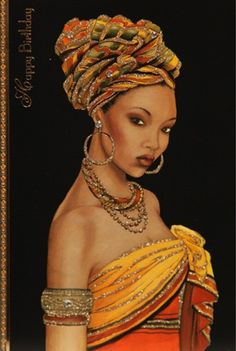 Curly Fries: Clinton's Fusion Deco Shaadi Cards - Africa Black Love Art, Black Girl Art, Art Girl, African Artwork, African Art Paintings, Black Art Painting, Black Artwork, Afro Painting, Afrika Tattoos