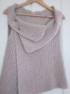 simple knitted vest #pattern - #crochet instead