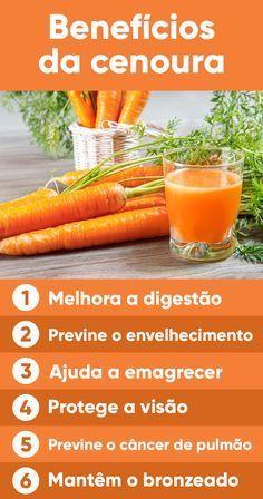 Para obter esses benefícios, deve-se consumir pelo menos 1 cenoura diariamente, de preferência crua, pois alguns de seus nutrientes são perdidos durante o cozimento.