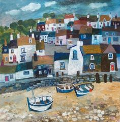 Harbour with three boats | Brenda King