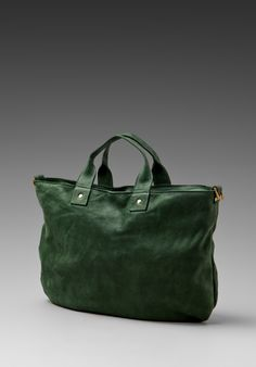 clare vivier messenger bag, bottle green.